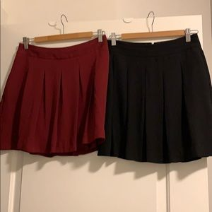 Two pleated skirts